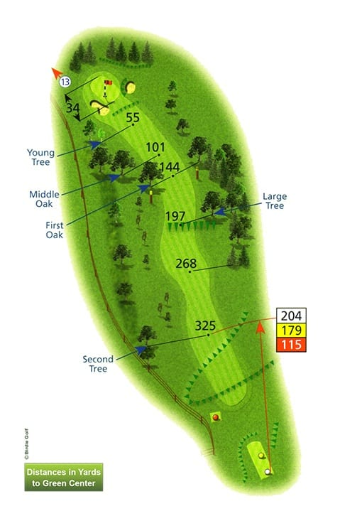 Course Planner Hole 12